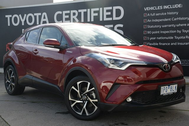 Used Toyota C-HR NGX10R Koba S-CVT 2WD, 2018 Toyota C-HR NGX10R Koba S-CVT 2WD Atomic Rush 7 Speed Constant Variable Wagon