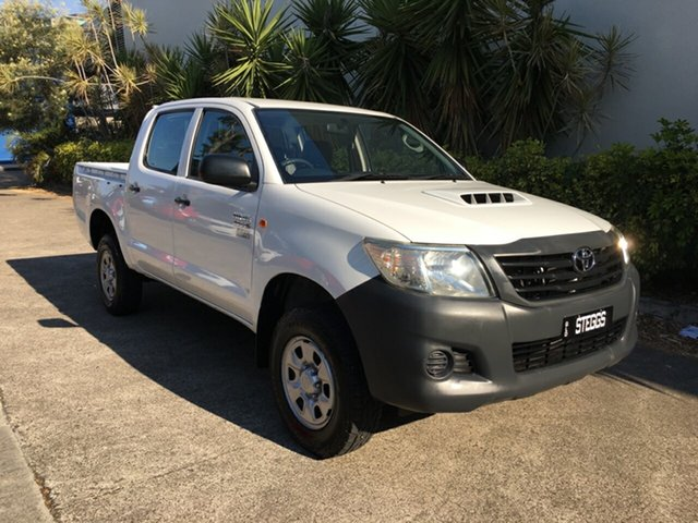 Used Toyota Hilux KUN26R MY12 Workmate (4x4), 2013 Toyota Hilux KUN26R MY12 Workmate (4x4) White 4 Speed Automatic Dual Cab Pick-up