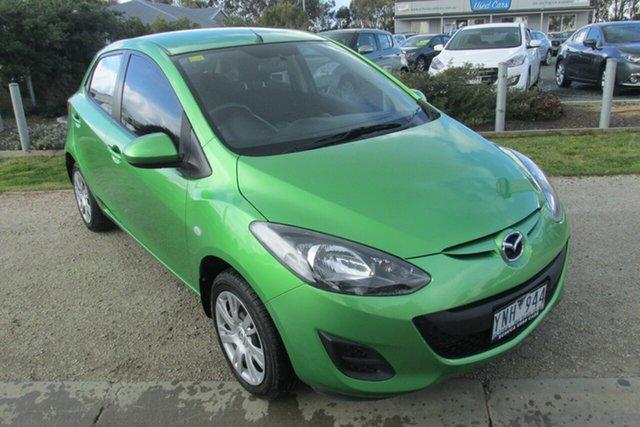Used Mazda 2 DE10Y2 MY12 Neo, 2011 Mazda 2 DE10Y2 MY12 Neo Green 4 Speed Automatic Hatchback