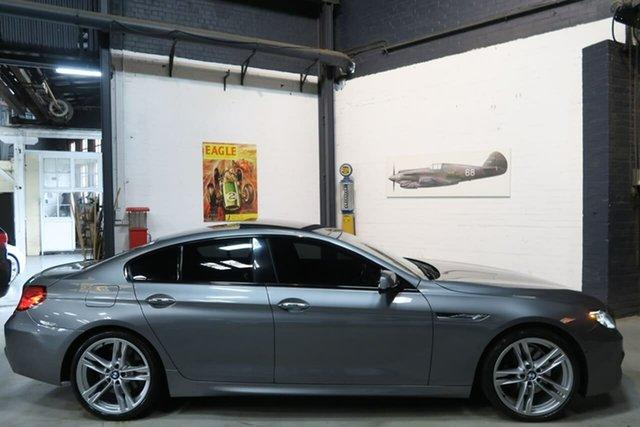 Used BMW 6 Series F06 MY1112 650i Gran Coupe Steptronic, 2013 BMW 6 Series F06 MY1112 650i Gran Coupe Steptronic Grey 8 Speed Sports Automatic Sedan