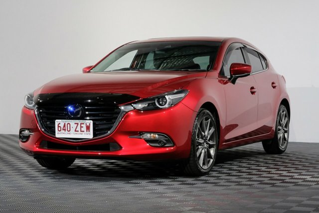 Used Mazda 3 BN5438 SP25 SKYACTIV-Drive Astina, 2018 Mazda 3 BN5438 SP25 SKYACTIV-Drive Astina Soul Red Crystal 6 Speed Sports Automatic Hatchback