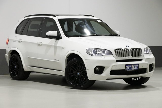 Used BMW X5 E70 MY12 Upgrade xDrive 40d Sport, 2012 BMW X5 E70 MY12 Upgrade xDrive 40d Sport White 8 Speed Automatic Sequential Wagon
