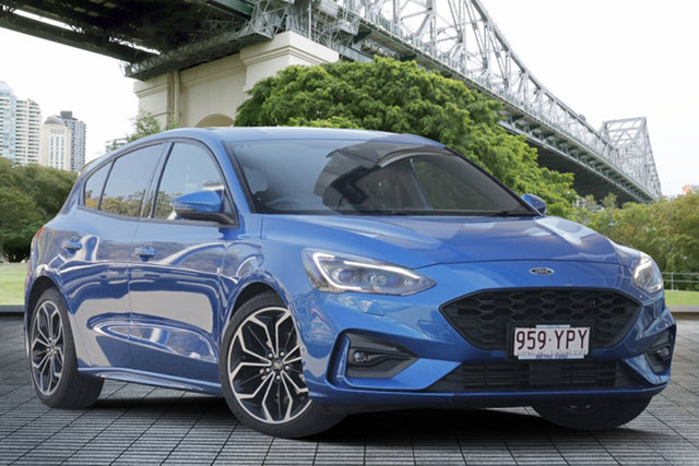 Used Ford Focus SA 2019MY ST-Line, 2018 Ford Focus SA 2019MY ST-Line Blue 8 Speed Automatic Hatchback