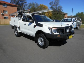 2012 Ford Ranger PX XL 3.2 (4x4) White 6 Speed Manual Super Cab Chassis.