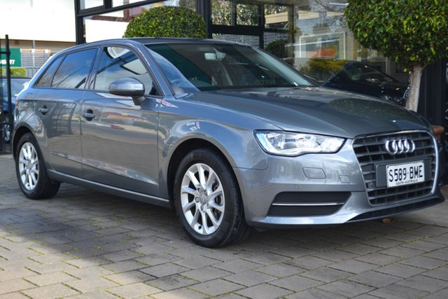 Used Audi A3 8V MY15 Attraction Sportback S Tronic, 2015 Audi A3 8V MY15 Attraction Sportback S Tronic Grey 7 Speed Sports Automatic Dual Clutch