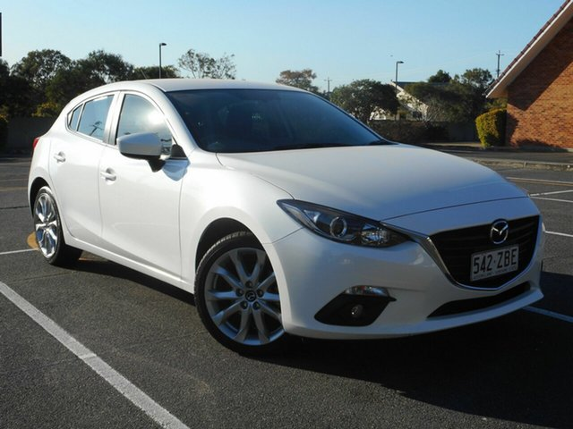 Used Mazda 3 BM5478 Touring SKYACTIV-Drive, 2015 Mazda 3 BM5478 Touring SKYACTIV-Drive White 6 Speed Sports Automatic Hatchback