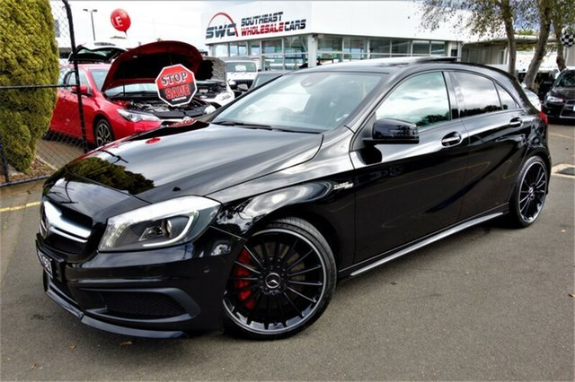 Used Mercedes-Benz A-Class W176 A45 AMG SPEEDSHIFT DCT 4MATIC, 2013 Mercedes-Benz A-Class W176 A45 AMG SPEEDSHIFT DCT 4MATIC Black 7 Speed