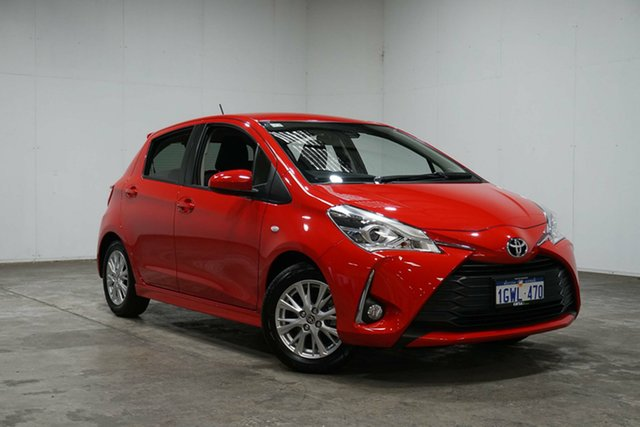 Used Toyota Yaris NCP131R ZR, 2018 Toyota Yaris NCP131R ZR Red 4 Speed Automatic Hatchback