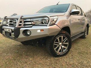 2018 Toyota Hilux GUN126R MY17 SR5 (4x4) Silver Sky 6 Speed Manual Dual Cab Utility.