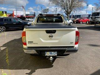 2016 Nissan Navara D23 S2 ST King Cab Polar White 7 Speed Sports Automatic Utility.