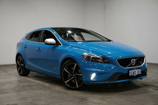 Used Volvo V40 M Series MY16 T5 Adap Geartronic R-Design, 2015 Volvo V40 M Series MY16 T5 Adap Geartronic R-Design Blue 8 Speed Sports Automatic Hatchback