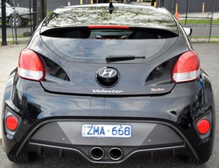 2013 Hyundai Veloster FS2 SR Coupe Turbo Black/Grey 6 Speed Manual Hatchback