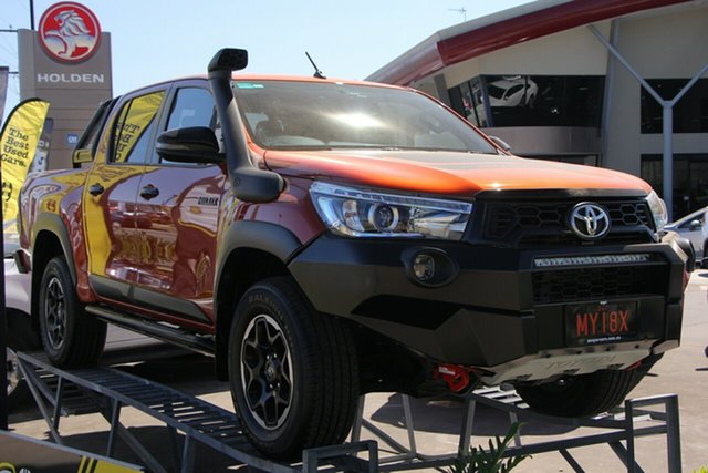 Used Toyota Hilux GUN126R Rugged X Double Cab, 2018 Toyota Hilux GUN126R Rugged X Double Cab Orange 6 Speed Sports Automatic Utility