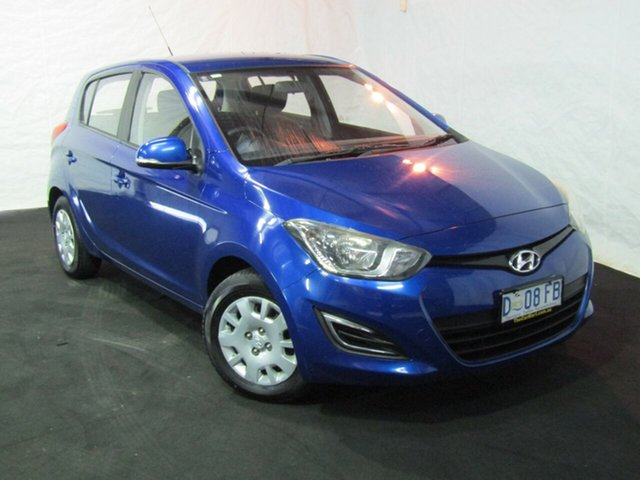 Used Hyundai i20 PB MY13 Active, 2013 Hyundai i20 PB MY13 Active Pristine Blue 4 Speed Automatic Hatchback