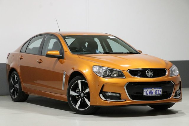 Used Holden Commodore VF II MY17 SV6, 2017 Holden Commodore VF II MY17 SV6 Orange 6 Speed Automatic Sedan