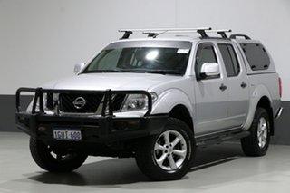2013 Nissan Navara D40 MY12 ST (4x4) Silver 5 Speed Automatic Dual Cab Pick-up.