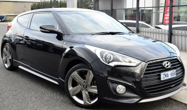 Used Hyundai Veloster FS2 SR Coupe Turbo, 2013 Hyundai Veloster FS2 SR Coupe Turbo Black/Grey 6 Speed Manual Hatchback