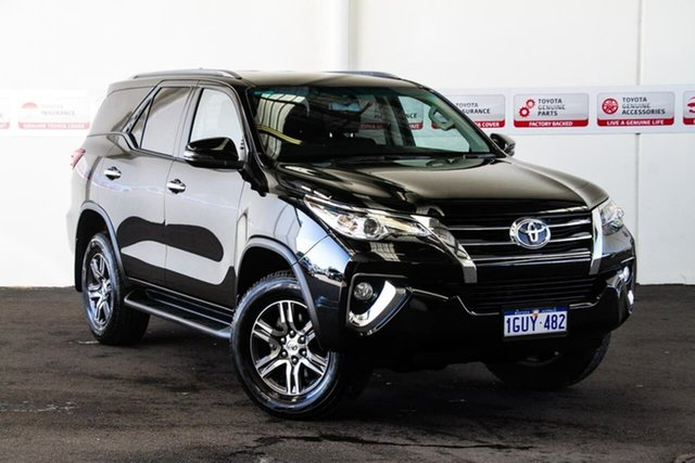 Used Toyota Fortuner GUN156R MY19 GXL, 2018 Toyota Fortuner GUN156R MY19 GXL Eclipse Black 6 Speed Automatic Wagon