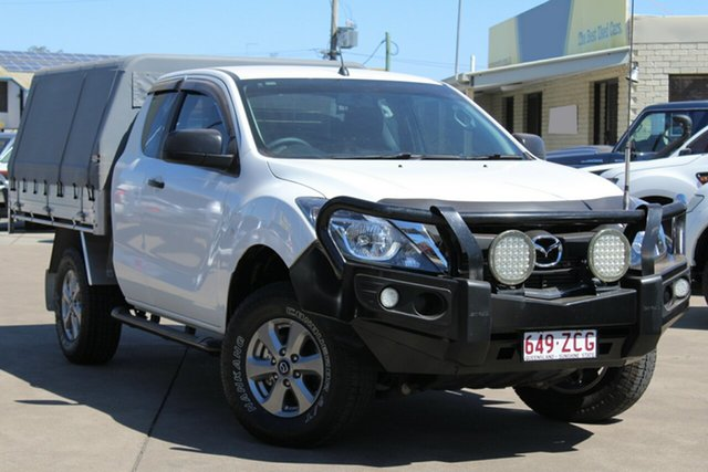 Used Mazda BT-50 UR0YG1 XT Freestyle, 2016 Mazda BT-50 UR0YG1 XT Freestyle Cool White 6 Speed Sports Automatic Cab Chassis