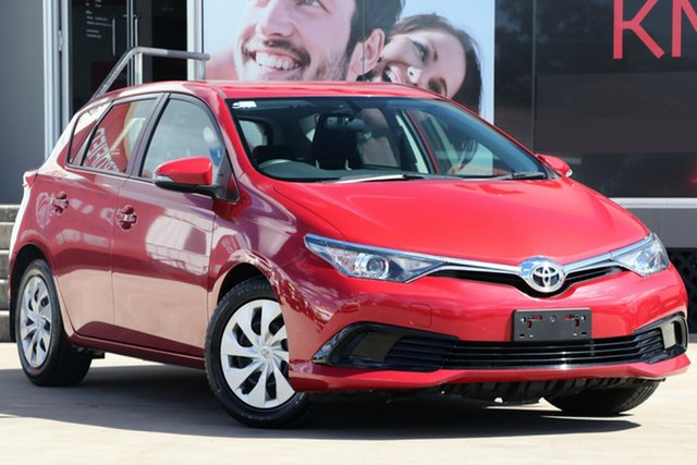 Used Toyota Corolla ZRE182R MY17 Ascent, 2017 Toyota Corolla ZRE182R MY17 Ascent Red 7 Speed CVT Auto Sequential Hatchback