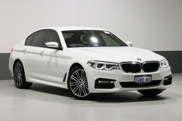 Used BMW 530i G30 MY18 M Sport, 2018 BMW 530i G30 MY18 M Sport Alpine White 8 Speed Automatic Sedan