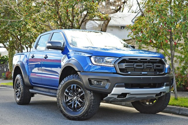 Used Ford Ranger PX MkIII 2019.00MY Raptor Pick-up Double Cab, 2018 Ford Ranger PX MkIII 2019.00MY Raptor Pick-up Double Cab Blue 10 Speed Sports Automatic Utility