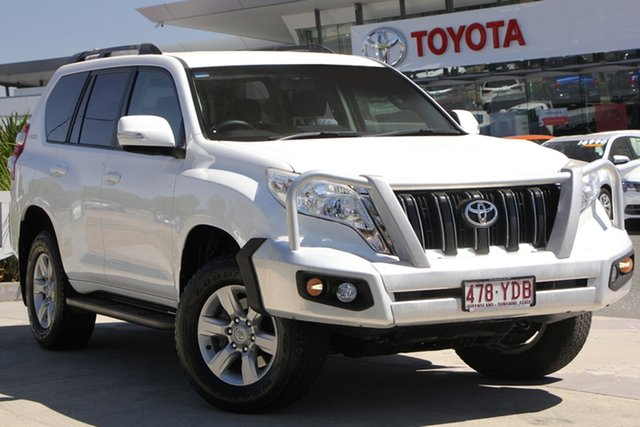 Used Toyota Landcruiser Prado KDJ150R MY14 GXL, 2014 Toyota Landcruiser Prado KDJ150R MY14 GXL Glacier White 5 Speed Sports Automatic Wagon
