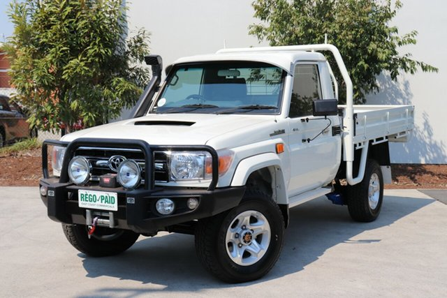 Used Toyota Landcruiser VDJ79R GXL, 2015 Toyota Landcruiser VDJ79R GXL White 5 speed Manual Cab Chassis
