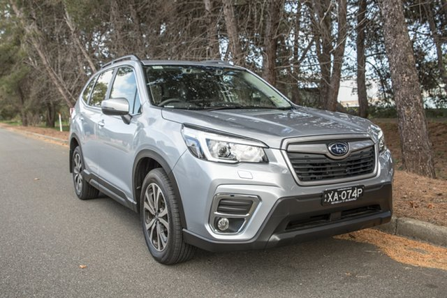 Demo Subaru Forester S5 MY19 2.5i Premium CVT AWD, 2019 Subaru Forester S5 MY19 2.5i Premium CVT AWD Ice Silver 7 Speed Constant Variable Wagon