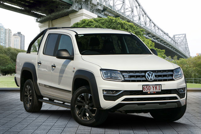 Used Volkswagen Amarok 2H MY18 TDI550 4MOTION Perm Dark Label, 2018 Volkswagen Amarok 2H MY18 TDI550 4MOTION Perm Dark Label White 8 Speed Automatic Utility