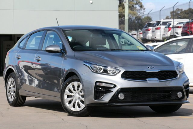 New Kia Cerato BD MY19 S, 2019 Kia Cerato BD MY19 S Steel Grey 6 Speed Sports Automatic Hatchback