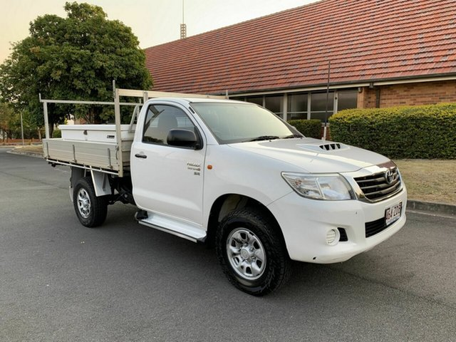 Used Toyota Hilux KUN26R SR, 2012 Toyota Hilux KUN26R SR White 5 Speed Manual Single Cab