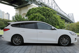 2018 Ford Focus SA 2019.25MY ST-Line White 8 Speed Automatic Wagon.
