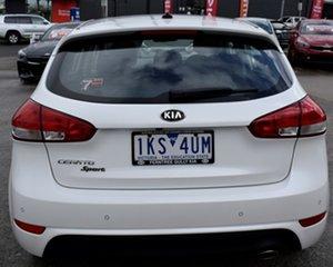 2017 Kia Cerato YD MY18 Sport White 6 Speed Sports Automatic Hatchback