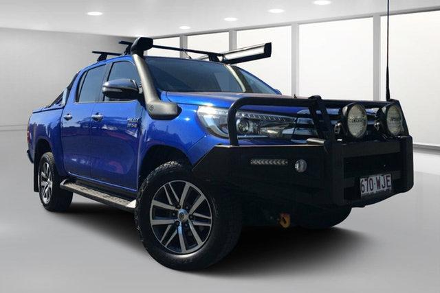 Used Toyota Hilux GUN126R SR5 (4x4), 2016 Toyota Hilux GUN126R SR5 (4x4) Nebula Blue 6 Speed Automatic Dual Cab Utility