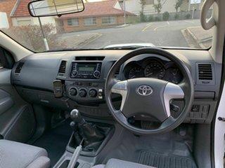2012 Toyota Hilux KUN26R SR White 5 Speed Manual Single Cab