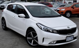 2017 Kia Cerato YD MY18 Sport White 6 Speed Sports Automatic Hatchback