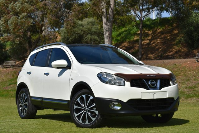 Used Nissan Dualis J10W Series 3 MY12 Ti-L Hatch X-tronic 2WD, 2013 Nissan Dualis J10W Series 3 MY12 Ti-L Hatch X-tronic 2WD White 6 Speed Constant Variable