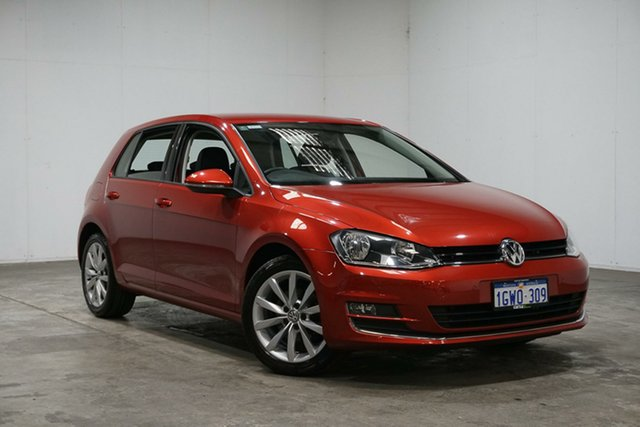 Used Volkswagen Golf VII MY16 110TSI DSG Highline, 2016 Volkswagen Golf VII MY16 110TSI DSG Highline Red 7 Speed Sports Automatic Dual Clutch Hatchback