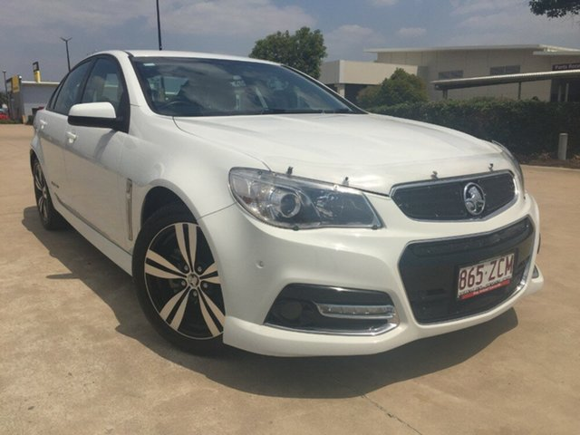 Used Holden Commodore VF MY15 SV6 Storm, 2015 Holden Commodore VF MY15 SV6 Storm White 6 Speed Manual Sedan