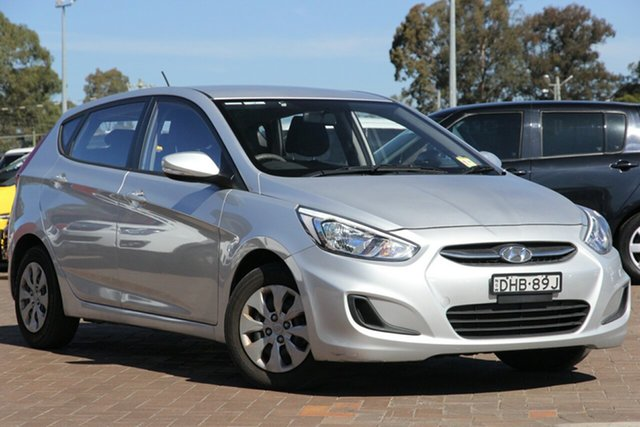 Used Hyundai Accent RB4 MY16 Active, 2016 Hyundai Accent RB4 MY16 Active Silver 6 Speed Constant Variable Hatchback