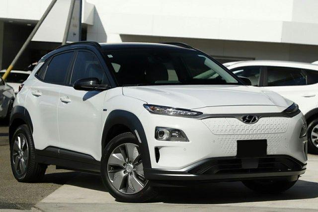 New Hyundai Kona OS.3 MY19 electric Highlander, 2019 Hyundai Kona OS.3 MY19 electric Highlander Chalk White 1 Speed Reduction Gear Wagon