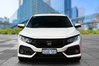 2019 Honda Civic 10th Gen MY19 VTi-L Platinum White 1 Speed Constant Variable Hatchback