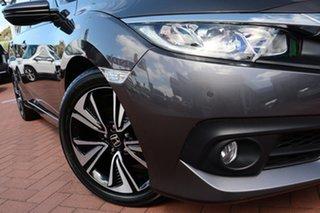 2018 Honda Civic 10th Gen MY18 VTi-L Modern Steel 1 Speed Constant Variable Sedan.