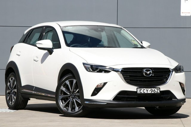 Demo Mazda CX-3 DK2W7A sTouring SKYACTIV-Drive FWD, 2019 Mazda CX-3 DK2W7A sTouring SKYACTIV-Drive FWD Snowflake White 6 Speed Sports Automatic Wagon