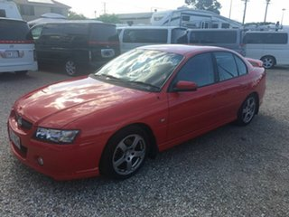 2005 Holden Commodore VZ SV6 Red 5 Speed Automatic Sedan.