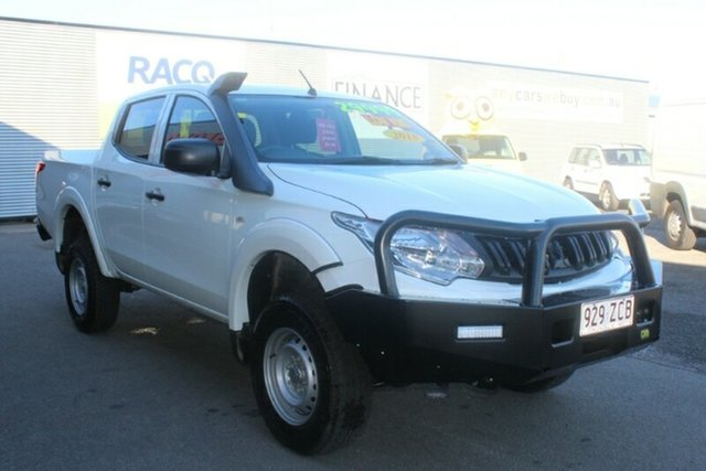 Used Mitsubishi Triton MR MY19 GLX Double Cab, 2018 Mitsubishi Triton MR MY19 GLX Double Cab White 6 Speed Manual Cab Chassis