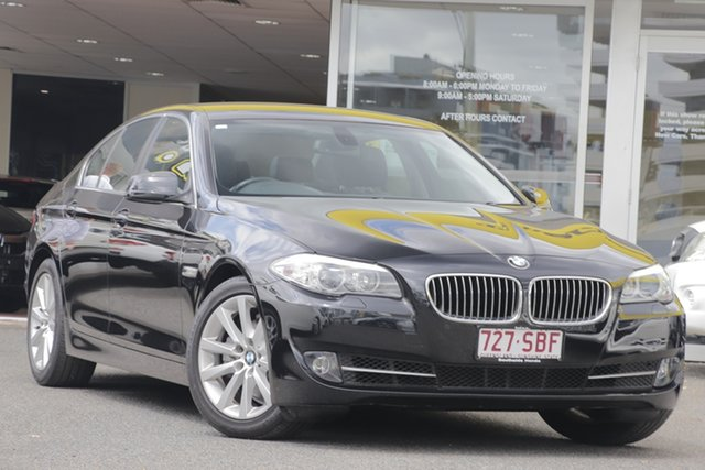 Used BMW 5 Series F10 MY0911 520i Steptronic, 2011 BMW 5 Series F10 MY0911 520i Steptronic Black 8 Speed Sports Automatic Sedan