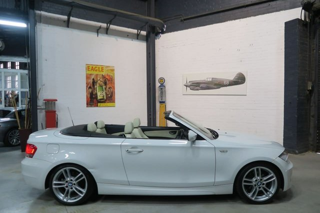 Used BMW 1 Series E88 MY10 , 2009 BMW 1 Series E88 MY10 White 6 Speed Automatic Convertible