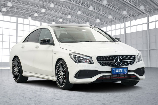 Used Mercedes-Benz CLA-Class C117 808MY CLA250 DCT 4MATIC Sport, 2017 Mercedes-Benz CLA-Class C117 808MY CLA250 DCT 4MATIC Sport White 7 Speed
